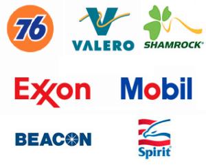 76, Valero, Shamrock, Exxon, Mobil, Beacon, Spirit